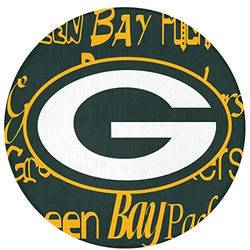 - Weckim Green Bay Packers Non-Skid Lock Water Quick-Drying Door Mat Floor Mat, Fadeless, Circular Mat Diameter 23.62