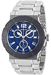 Invicta Men's Reserve Steel Bracelet & Case Swiss Quartz Blue Dial Analog Watch 19596