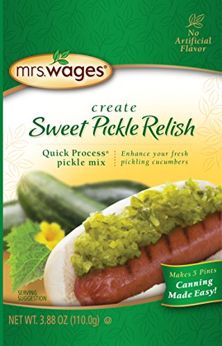 Mrs. Wages Relish Pickle Mix, Sweet, 3.9 Ounce (Pack of 12)