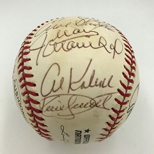 Kirby Puckett, Yogi Berra, Lou Brock Hall Of Fame Multi Signed Baseball (17) PSA