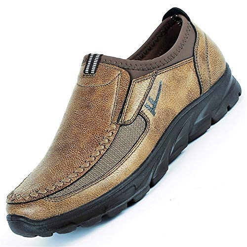 Hombres Caqui Transpirables de y tamaño de para Plataforma Pekín Tela Viejos Mocasines de Zapatos de Antideslizantes Gran BYxwaqB