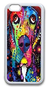 basset hound Custom iphone 6 plus 5.5 inch Case Cover TPU White