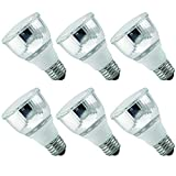Luxrite LR20130 (6-Pack) 10W PAR20 CFL Light Bulb, Warm White 2700K, Flood Light Bulb, E26 Medium Base