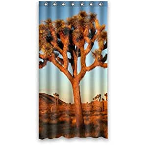 Beautiful Joshua Tree At The Sunset Custom 100% Polyester Waterproof Shower Curtain 36 x 72
