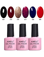 AIMEILI Gel Nail Polish Soak Off UV LED Gel Nail Lacquer...