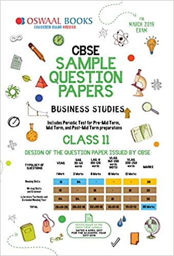 Oswaal CBSE Sample Question Paper Class 11 Business Studies