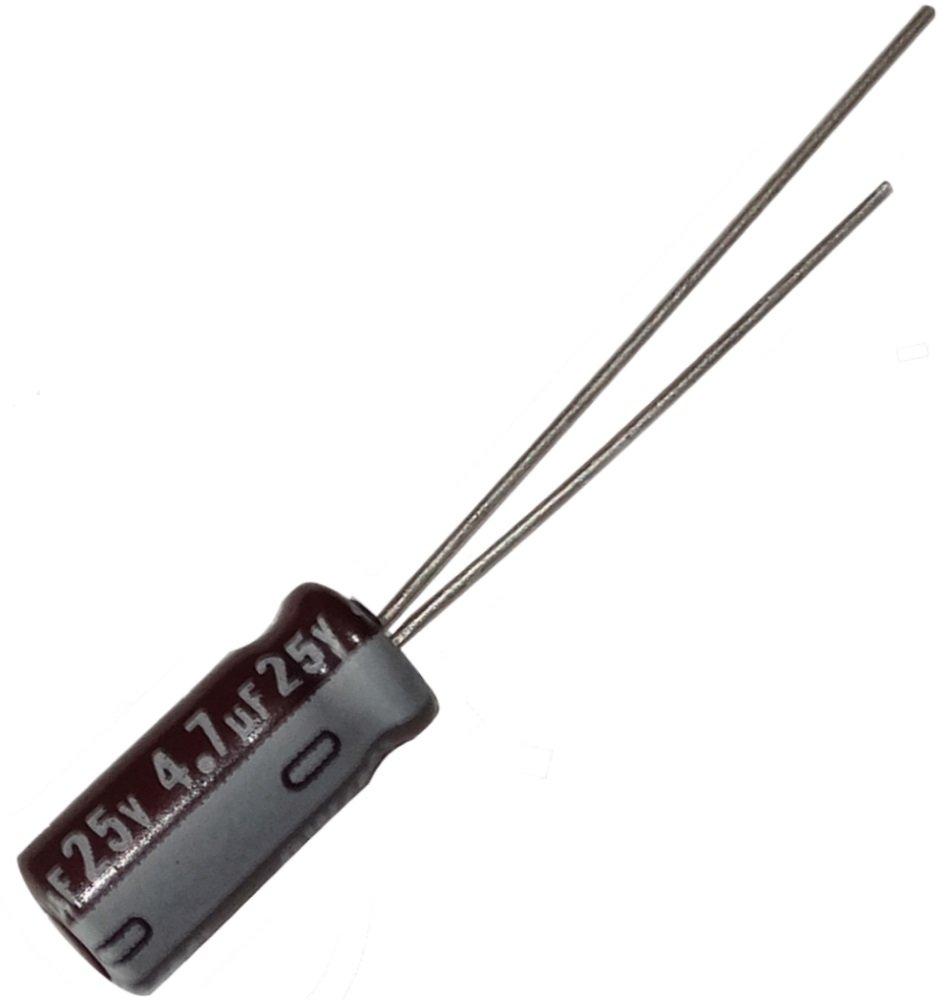 Aerzetix: 20x Condensateur chimique LOW ESR 4.7µF ± 20% 25V THT 105°C 2000h Ø5x11mm radial low-cost