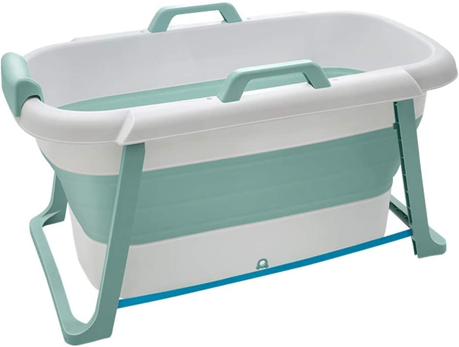KaDz - Bañera plegable para adultos (plástico, tamaño grande, 117 x 65 x 60 cm), Verde, Single Barrel - 117x65x60cm