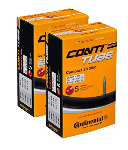 Continental 42mm Presta Valve Tube (2-Pack, 700 x 25-32cc) Slim