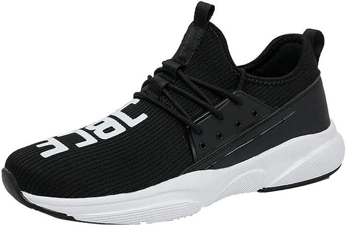 FJJLOVE Mujer Running Capacitadores, Malla De La Zapatilla De Deporte De Atletismo Zapatos Que Caminan Ocasionales del Slip Ligera En Zapatillas para Tenis Gimnasio Sendero,Negro,36: Amazon.es: Hogar