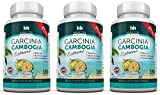 80% HCA Pure Garcinia Cambogia Extract Extreme 3 X 180 Capsules All Natural Appetite Suppressant and Weight Loss Supplement By Hamilton Healthcare up to 4500mg Per Day for Maximum Results - Triple Pack 540 Capsules
