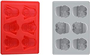 Star Wars Darth Vader Silicone Ice Tray/Chocolate Mold Baking Cake Decoration Jelly Sugar Craft Silicone Ice Cube Tray Nonstick Molds Set of 2