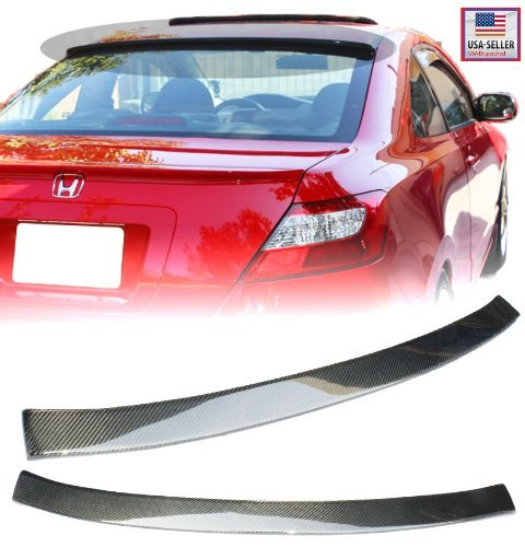 Civic Carbon (06-11 Honda Civic 2 Door Coupe Carbon Fiber Rear Roof Visor Spoiler Wing 2006 2007 2008 2009 2010 2011)