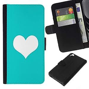 KingStore / Leather Etui en cuir / HTC Desire 820 / Coeur minimaliste propre amour