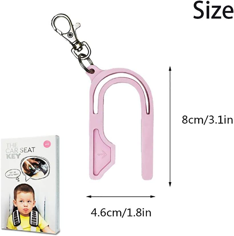 Blue,Pink,Purple Kayueti 3 Pack Car Seat Unbuckler Car Seat Key Easy Buckle Release Tool Car Seat Adapters Easy Buckle Release Aid for Children and Caregivers