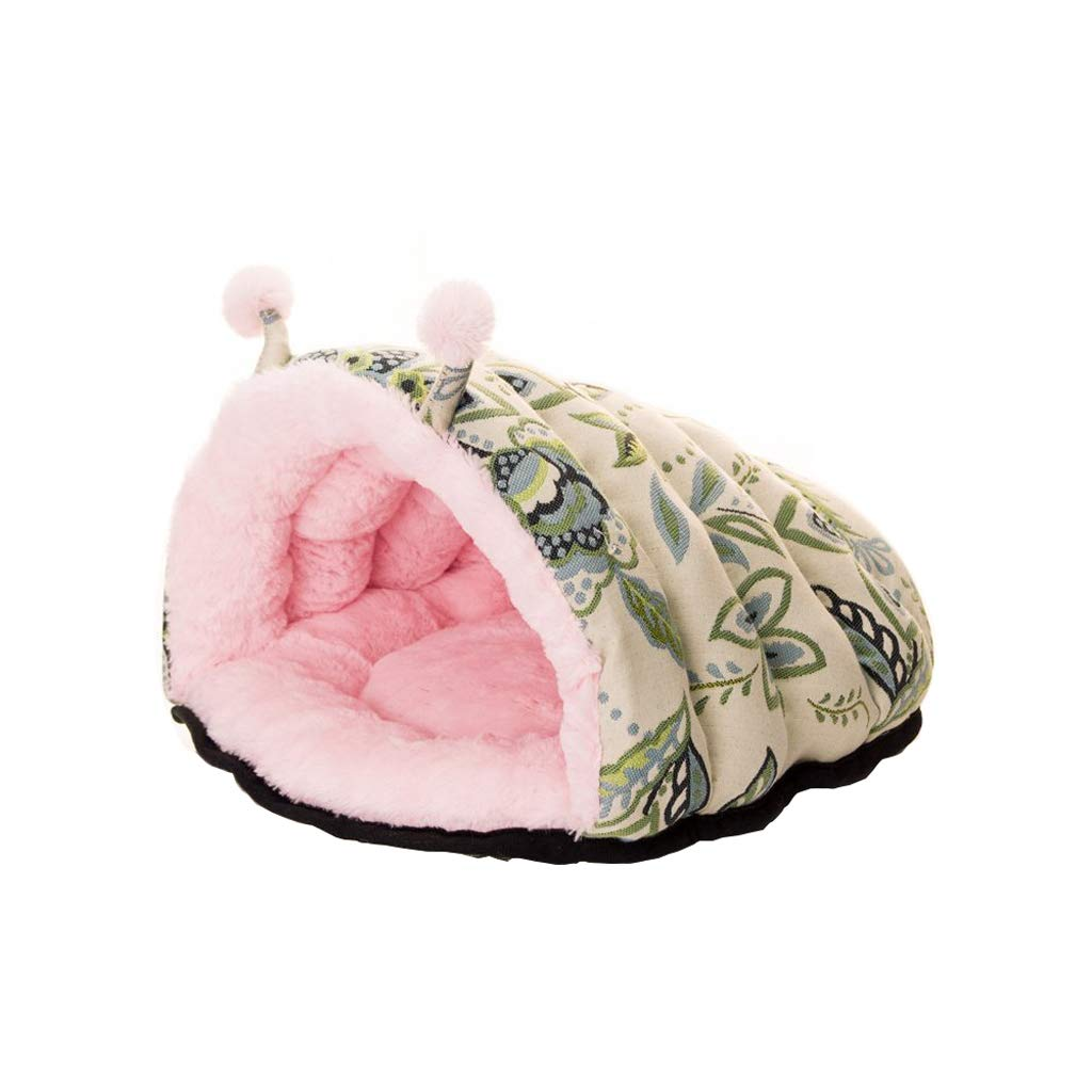 B MXBCWW Cat Bed Dog Bed, Plush Cloth Sleeping Bag Pet Nest Pad Tent Slippers Nest Pet Sofa(S, M) (color   A, Size   M)