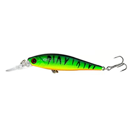 11cm 13.5g Minnow Lure 3D EYES Life-like ABS Artificial Fishing Hard Bait Hooks