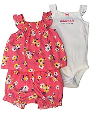 Baby Girls' 3-Piece Flower Set