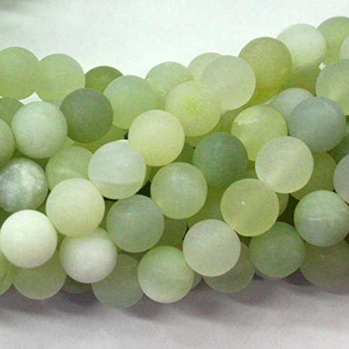 Natural Unpolished New Green Jade Round Matte Jewerlry Making Gemstone Beads (Green 12mm Round Bead)