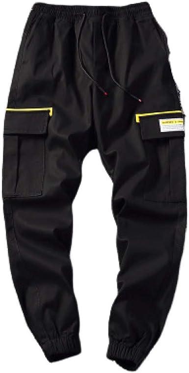 N/ A Pantalones de chándal con cordón de algodón para Hombres ...