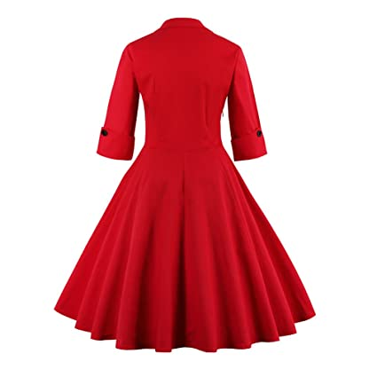 9941ef3a240 Olddnew Women s Vintage Cocktail Dress Plus Size Long Sleeves