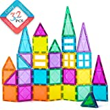 cossy Magnet Tiles Building Block, 32pcs Magnetic Stick and Stack Set for Girls and Boys, Perfect STEM Educational Toys for 3+ Year Kids Children (Refreshed)
