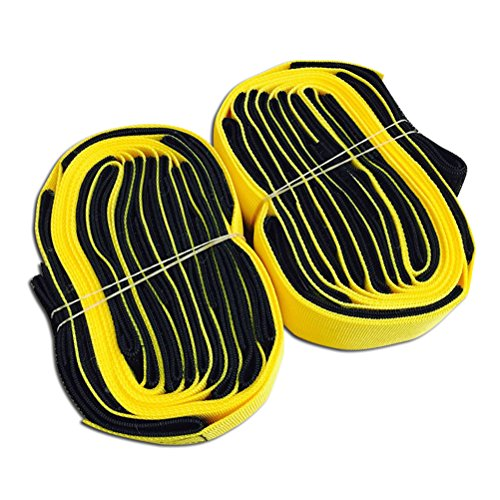 VORCOOL 5-Legged Race Bands Carnival Field Day Game Outdoor Solidarity Cultivation Game 2 Pack (Yellow) -