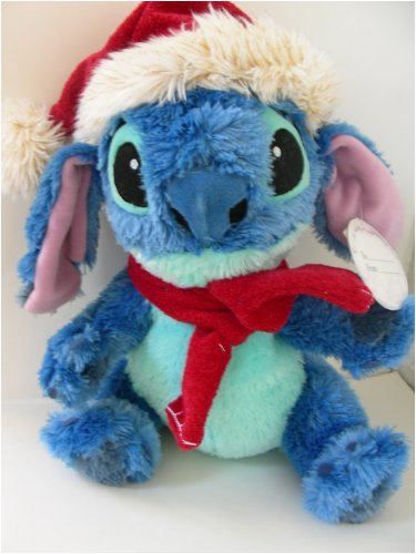 Disney Christmas Stitch Plush wearing Santa Suit (Santa Stitch)
