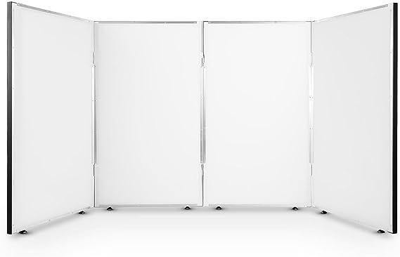 FrontStage Facade 4 Cabina metálica para DJ con soporte iluminación (Biombo 4 paneles, separador 2 módulos escenario, transportable, altura ajustable, estación dj show compatible con efectos de luz): Amazon.es: Instrumentos musicales