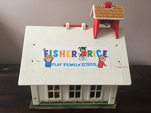 Vintage 1971 Fisher Price Little People Play Family 923 School House with Accessories