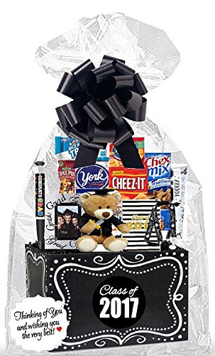 CakeSupplyShop Class of 2017 Graduation Party Supplies Collection (Care Package Snack Gift Box Bundle Set )