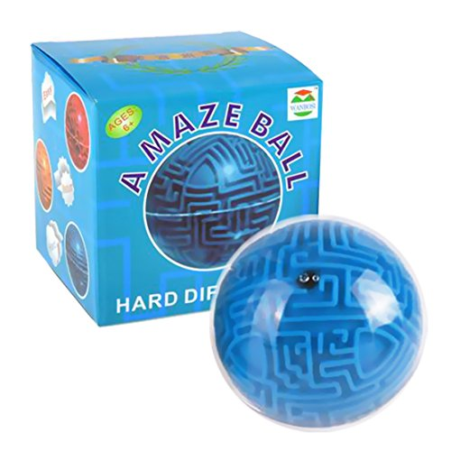 Nextnol 3D Magic Maze Puzzle Ball,Educational Balance Fidget Toys Puzzle Game Kids Adult Gifts(blue)