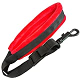 Xinlink Professional Red Soft Padded Saxophone Neck Strap with Snap Hook for Alto Tenor Soprano Baritone Sax Music Accessories