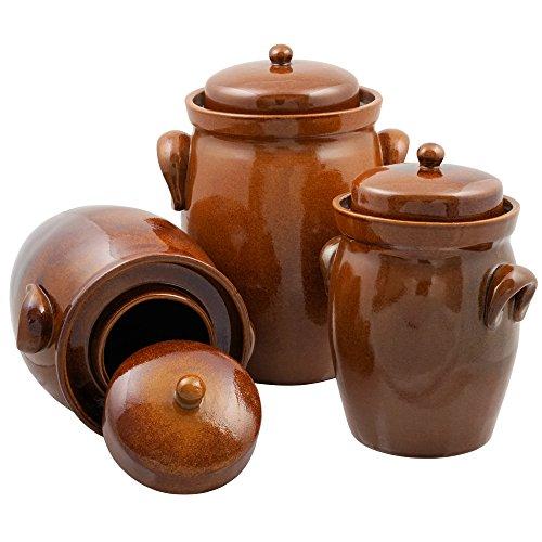 K&K German Fermenting Pot | brown | Fermentation Jar | Crock Pot | Made in Germany (5.0 Liter (1.3 Gal)) by K&K (Image #2)