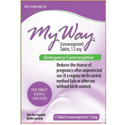 My Way Emergency Contraceptive 1 tablet each (6) by Lupin