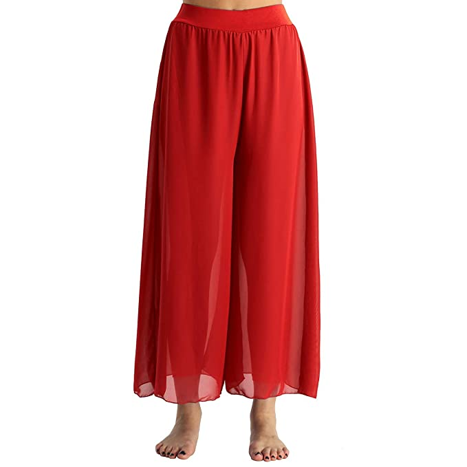 YOOJIA Pantalones Pierna Ancha Yoga Baile Señora Chica ...