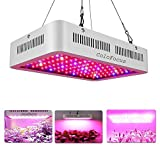 1200W LED Plant Grow Lights Indoor,Full Spectrum IR UV Veg Flower Indoor Plant Panel (10W Leds 120Pcs)