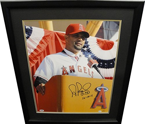 - Albert Pujols Hand Signed Autographed 16x20 Photo Custom Framed Angeles PSA/DNA
