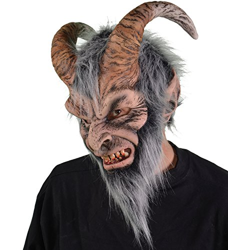 (Zagone Krampus Mask, Horned Devil Demon Monster)