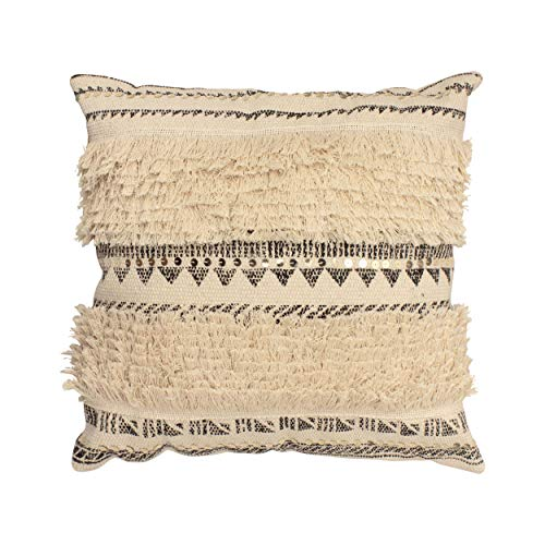 French Connection Nomad Throw Pillow 18 x 18 Natural