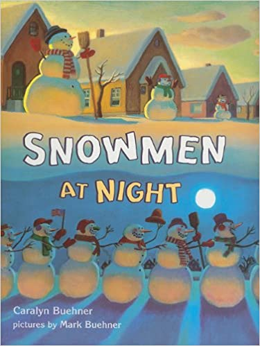 Snowmen at night de Caralyn Buehner