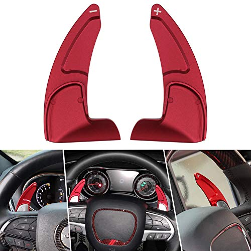 Steering Wheel Shift Paddle Fit for Jeep Grand Cherokee 2014-2018 Shifter Transfer Extension Interior Trim Cover (2 PCS)