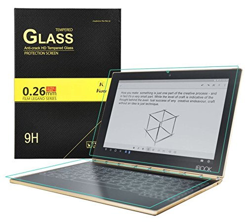 lenovo yoga book Screen protector,KuGi 9H Hardness HD clear Tempered Glass keyboard Protector,Screen Protector for lenovo yoga book tablet (2 Pack, ...