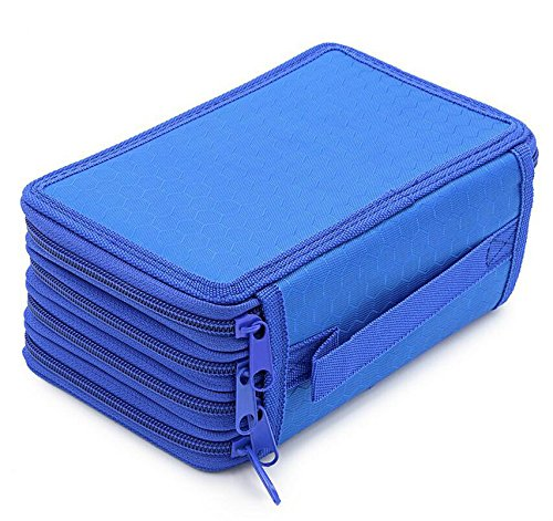 Junson 72 Holders 4 Layer Oxford Canvas School Pencils Case Pockets Pencil Holder Case by Junson