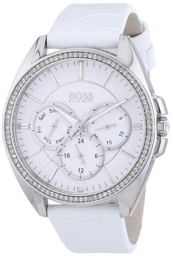 Hugo Boss Women's 1502361 White Leather Analog Quartz Watch