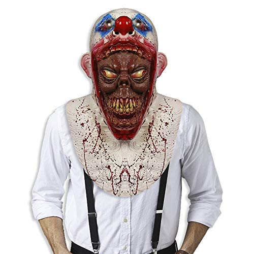Cosplay Clown Mask Halloween Costume Party Rubber Masks Creepy Scary Killer Clown Mas