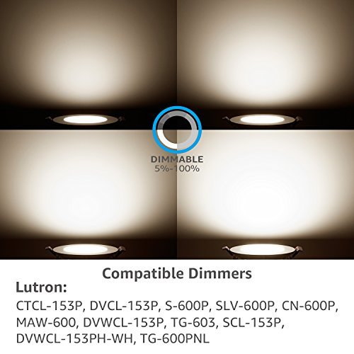 TORCHSTAR 10W 4'' Ultra-Thin Recessed Ceiling Light with Junction Box, 4000K Cool White, Dimmable Airtight Downlight, 650lm 80W Equivalent ETL and Energy Star Certified, Pack of 6 by TORCHSTAR (Image #6)