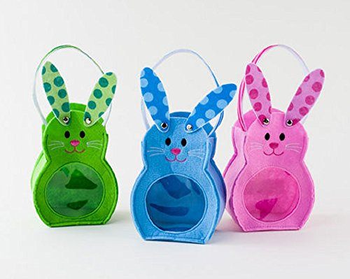 Children's Easter Bunny Rabbit Character Bags - Set of 3