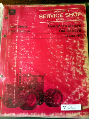 John Deere 7020 Tractor Operators Manual