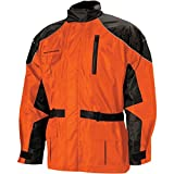 Nelson-Rigg AS-3000 Aston 2-Piece Rain Suit (Black/Orange, X-Large) 409-075